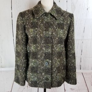 The Works Saks Fifth Avenue Blazer Sz 4 Green